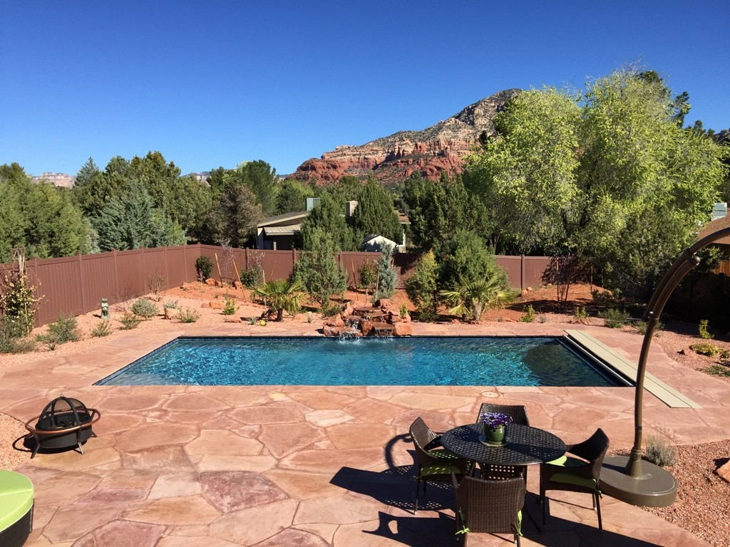 Cottonwood and sedona arizona pool builder sunsplash for Pool design az